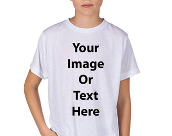 Customized All Over Printed Sublimation Youth T-Shirt