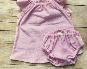 Newborn Girl Coming Home Outfit - Baby Diaper Cover Set - Dress and Diaper Cover Set - Baby Girl Dress - Baby Girls Clothes - Newborn Dress