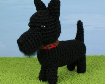 PDF AmiDogs Scottish Terrier (Scottie Dog) amigurumi dog CROCHET PATTERN