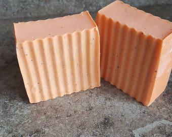 Citrus Cold Process Soap, Coconut Oil Soap, 100% Coconut Oil Soap, Dreamsicle Soap, Bergamot Soap, Orange Soap, Lemon Soap, Cold Process