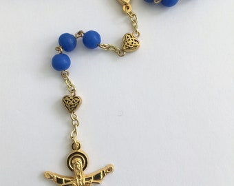Rosary - Royal Blue and Gold