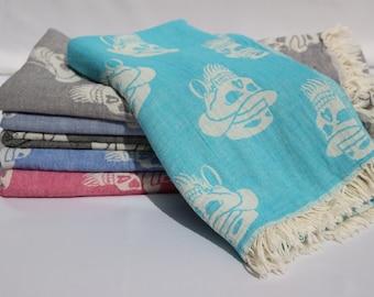 Beach Towel, Skull, Turkish Towel, Halloween Gift, Turkish Beach Towel,Peshtemal, Sarong,Skull Gift, Turkish Bath Towel, Boho Towel,
