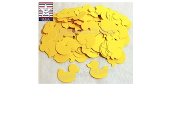 200 Rubber Duck Baby Shower, Rubber Ducky Confetti, Rubber Duckies Baby Shower, Duck Die Cut Shape, Rubber Duckies Birthday, Duck Confetti