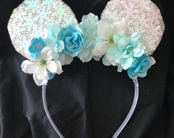 Elsa Inspired Mickey Ears