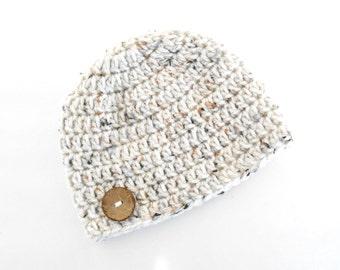 Crochet Baby Beanie - Crochet Button Hat - Crochet Baby Hat - Newborn Baby Hat - Newborn Baby Beanie - Baby Shower Gift - Baby Photo Prop