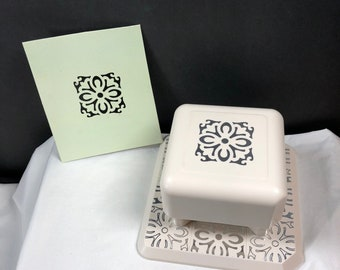 Martha Stewart Scrapbooking Paper Punch COUNTRY TILE Magnetic All-Over the Page