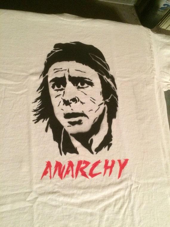 John Bender Breakfast Club Anarchy spray painted shirt