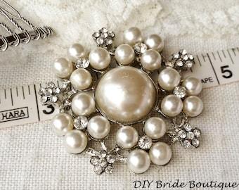 Wedding Brooch Rhinestone Brooch Bridal Brooch Crystal Brooch
