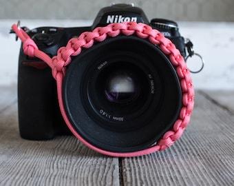 Paracord Camera Wrist Strap (pink)