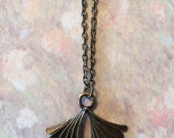 Palm Leaf Necklace - Palm Leaf Jewelry - Palm Necklace - Palm Jewelry - Palm Leaf Fan - Fan Necklace - Fan Jewelry - Palm Tree Leaf - Palm