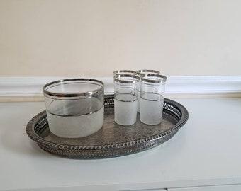 Wm Rogers Silver Serving Tray, Oval Serving Tray, Pierced Silver Tray, Wm Rogers, Serving Tray, Wedding, Barware, Vintage Bar, Vanity Tray