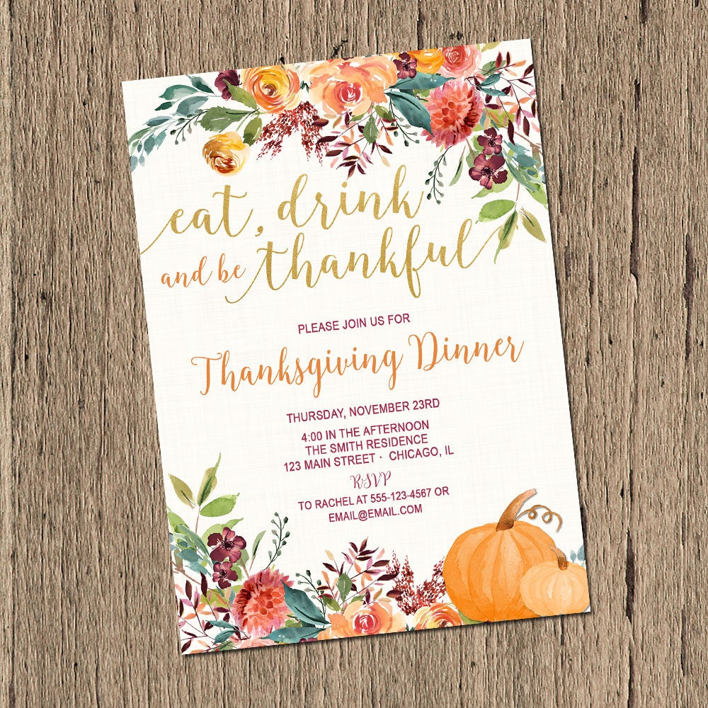 Thanksgiving invitation thanksgiving dinner invitations eat