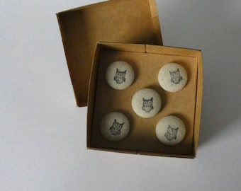 Owl Drawing Pins, Push Pins, Notice Boards, Memo Boards, Tacks, Art, Paper, Office, Home, Student, Gift, Hand Stamped