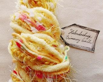 Yellow Cake chenille trim pom twine cream fringe Novelty Fiber Yarn Sampler Bundle