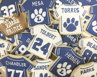 Personalized Football Jersey Cookies - Only 5 Dollars Each!