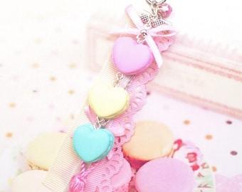 jewelry bag  romantic macarons pastel
