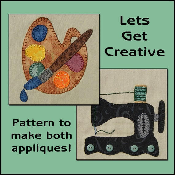 Let\'s Get Creative Applique Templates - Painting Applique Pattern ...