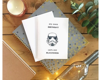 Stormtrooper // star wars, the empire, clone wars, storm trooper, punny, pun, nerdy, geeky, greeting cards, birthday card, for him, birthday