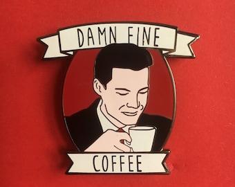 Twin Peaks Dale Cooper enamel pin