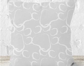 Grey Paw Print Cat Cushion - Light Grey - Cat - Cat Print - Paw Prints - Cat Paws - Cat Art Print - Throw Cushion