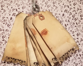 Distressed Journaling Tags with Bendable Wire