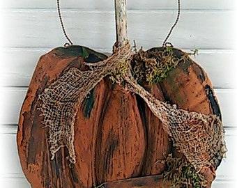 Primitive Pumpkin Pattern | Paper Pattern | Folk Art Pumpkin Pattern | Fall Decor