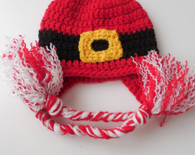 Santa Hat - Christmas Hat  - Teens - Adults - Childrens - Kids - Baby Sizing - Red Holiday Hat - Made to Order
