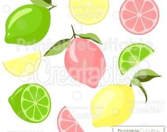 Lemons 'n' Limes SVG Cutting Files & Clipart E140 - Includes Limited Commercial Use!