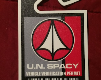UN SPACY / ROBOTECH Vehicle Permit hanging tag