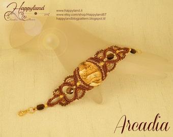 Arcadia , macramè bracelet pattern