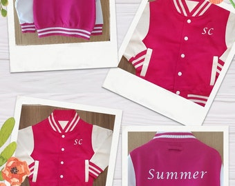 Children's personalised Varsity Jacket
