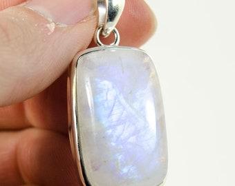 Rainbow Moonstone Pendant (Sterling Silver, #9446)