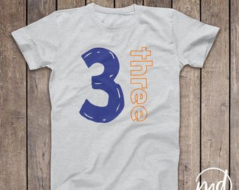 3 Year Old Birthday Shirts For Boy Third Shirt Three Outfit Bday
