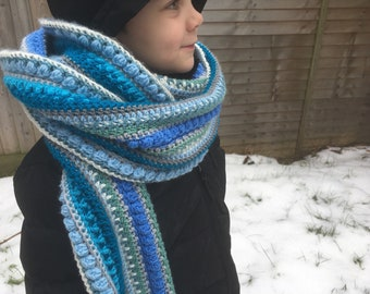 Men's offshore Crochet Chunky Winter Scarf *pattern*