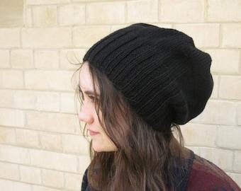Alpaca/Wool Slouchy Hat Knitting Pattern PDF