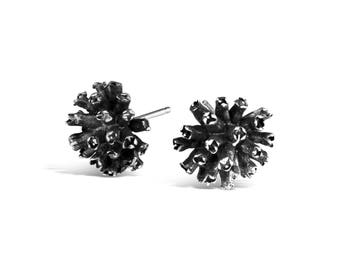 Sterling Silver Dogwood Blossom Stud Earrings