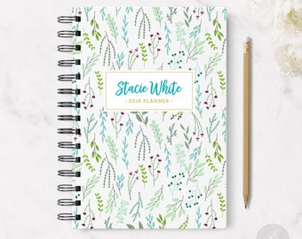 2018 Monthly Planner #3 - Hardcover - Coil Bound - Tabbed - Weekly Planner - Daily Planner