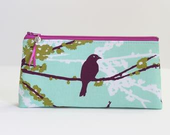 Bird Small Makeup Bag Gift For Her, Zipper Pouch Pencil Pouch Gift For Teen Girls, Best Friend Gift