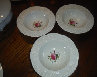 BIRBECK ROSE, by George Jones and Sons, Princess Crescent Rimmed soup