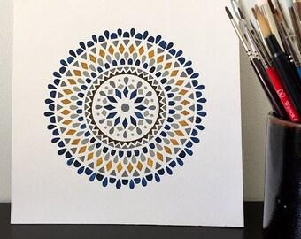 Blue and Yellow Mandala