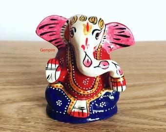 "Ganesha statue 2"" / 2.5"", Lord ganesha idol, hindu deity, hindu god, india elephant god, ganesh figure religious, ganesha home office decor"