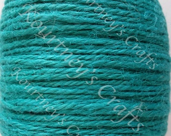 2mm Light Teal Blue Jute Twine Cord Non-Polished 2mm 100M/Roll (Approx. 109 Yard)