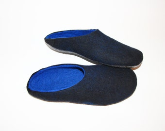 Felted Mens Clogs For Women, House Slippers Slide On Slippers Wool Felted Slippers, Mens Mule Slippers, Unisex Slippers, Felted Wool Clogs