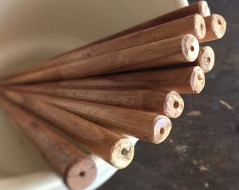 "SUPER BULK DISCOUNT - Canterbury Light Wood Hairsticks - Set of 100 - Beadable 6"" Solid Wood - Hair Stick Shawl Pin Hair Fork Shawl Stick"