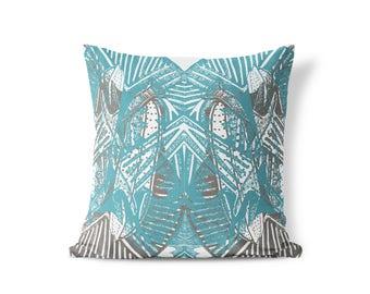Kara Pillow - Blue, Gray, Neutral - Free Shipping US