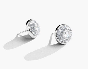 Crystal Swarovski Crystal Post Earrings, Crystal Stud Earrings