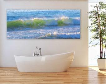 California Ocean Waves Photo, Coastal Seascape Photography, Large Big Sur Modern Canvas Decor, Carmel Beach Artwork, Misty Ocean WavePrint