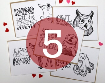 5-Pack - Choose Any 5 Hand Lettered Greeting Cards
