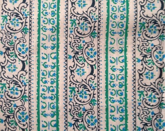 1960s Length of Vintage Cotton Print Fabric