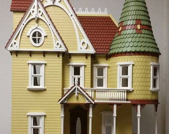 Ada Victorian Mansion Wooden Dollhouse Kit, Scale One Inch